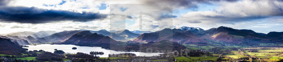 """""""The North Western Fells of the Lake District."""" stock image"""