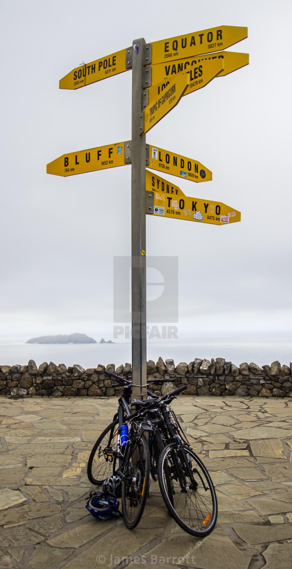 """Cape Reigna sign post."" stock image"
