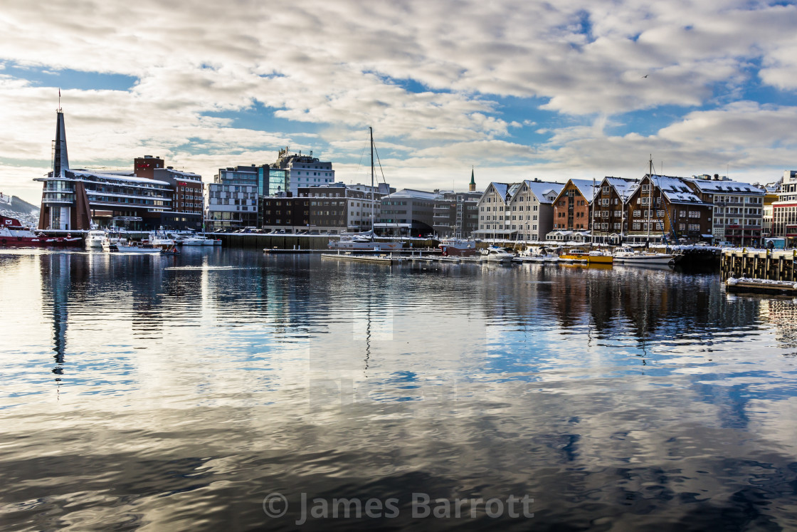 """Tromso Harbour"" stock image"