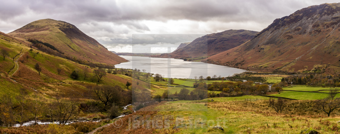 """Wastwater in Autumn"" stock image"