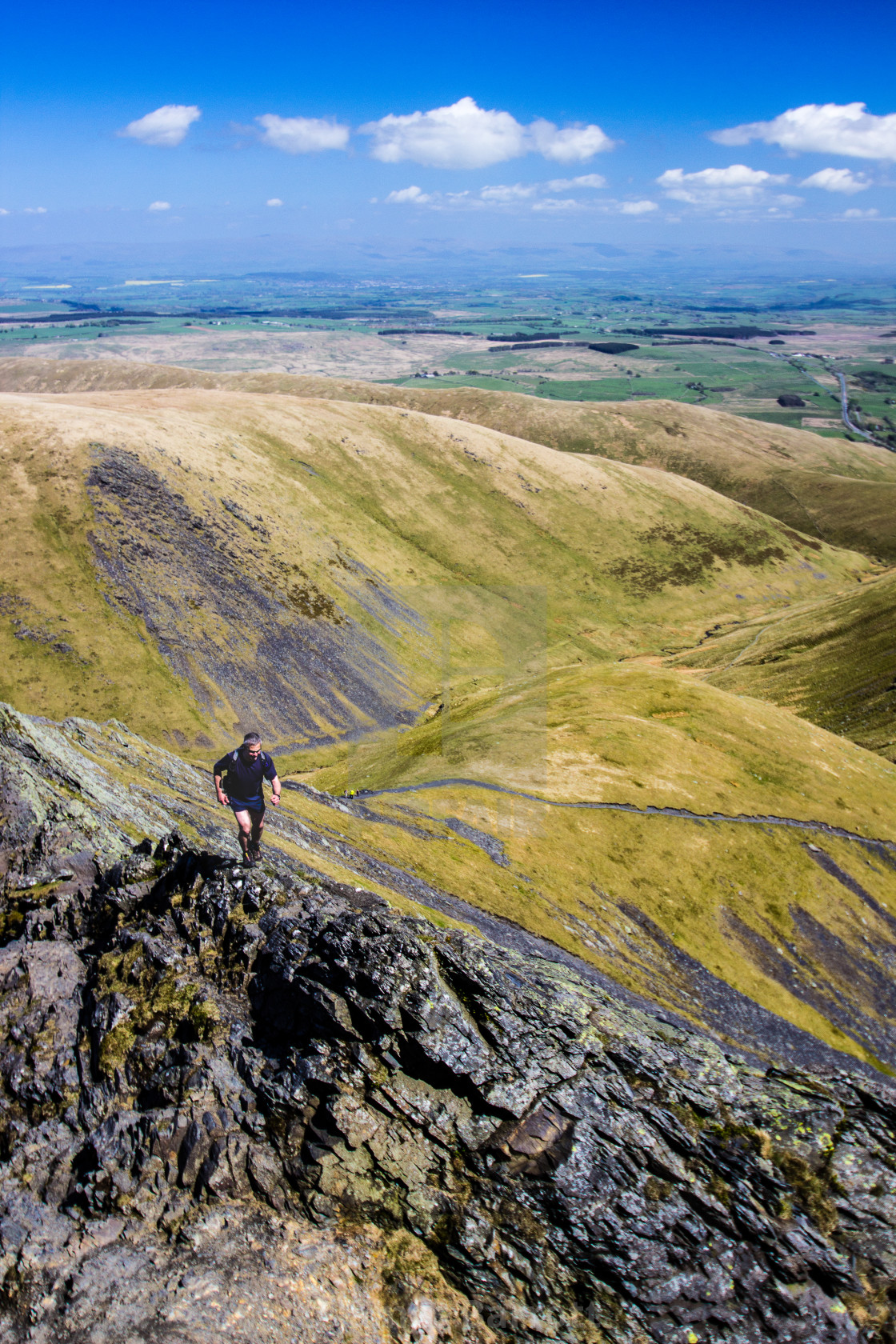 """A walker on Sharp Edge"" stock image"