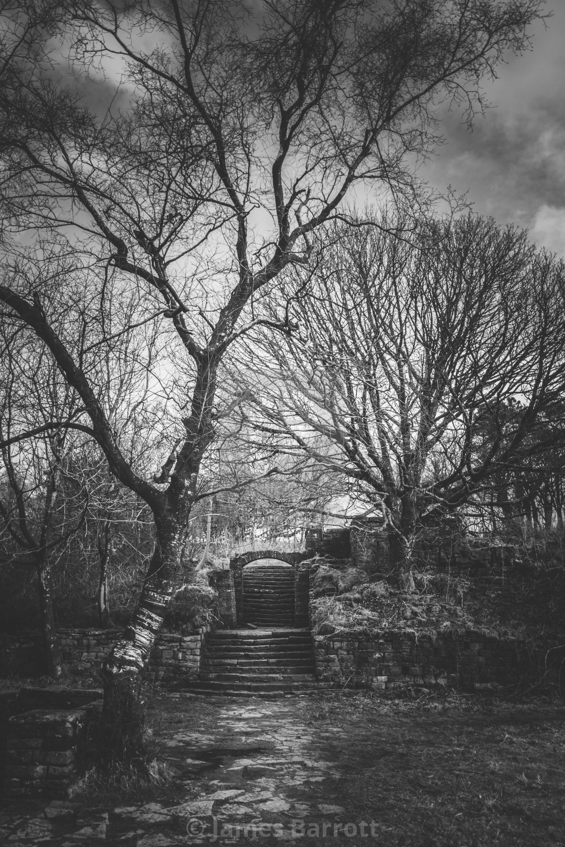 """Rivington Terraced Gardens"" stock image"