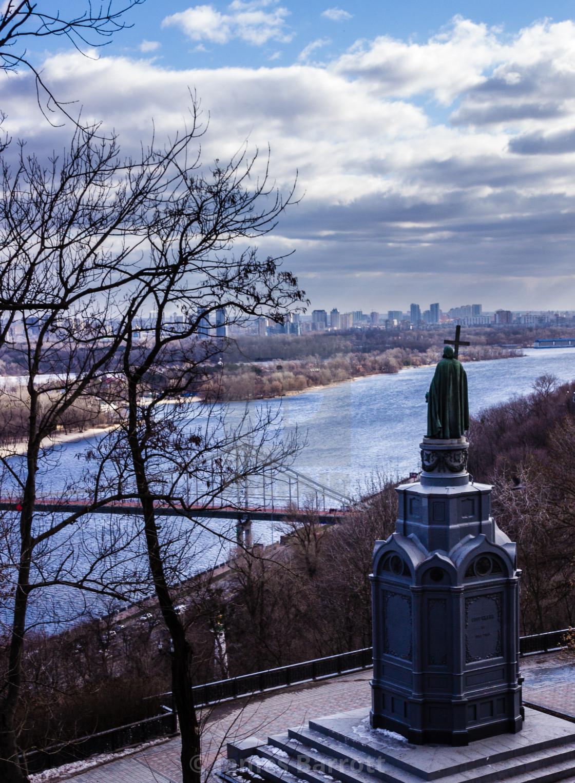 """St Vladimirs statue, Kiev."" stock image"