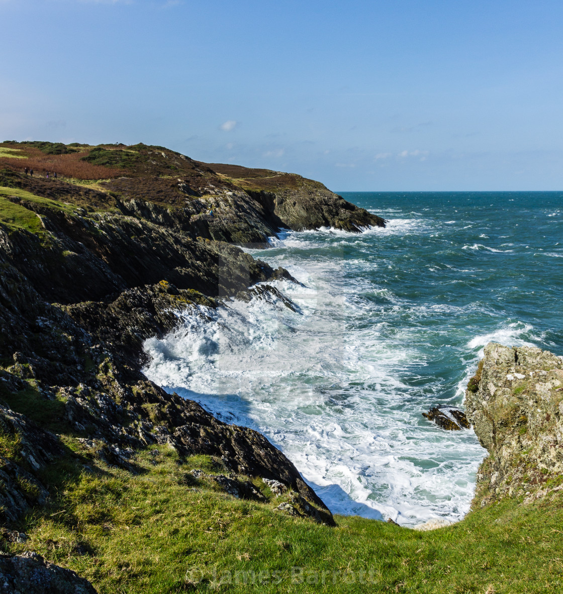 """The North Anglesey coast."" stock image"