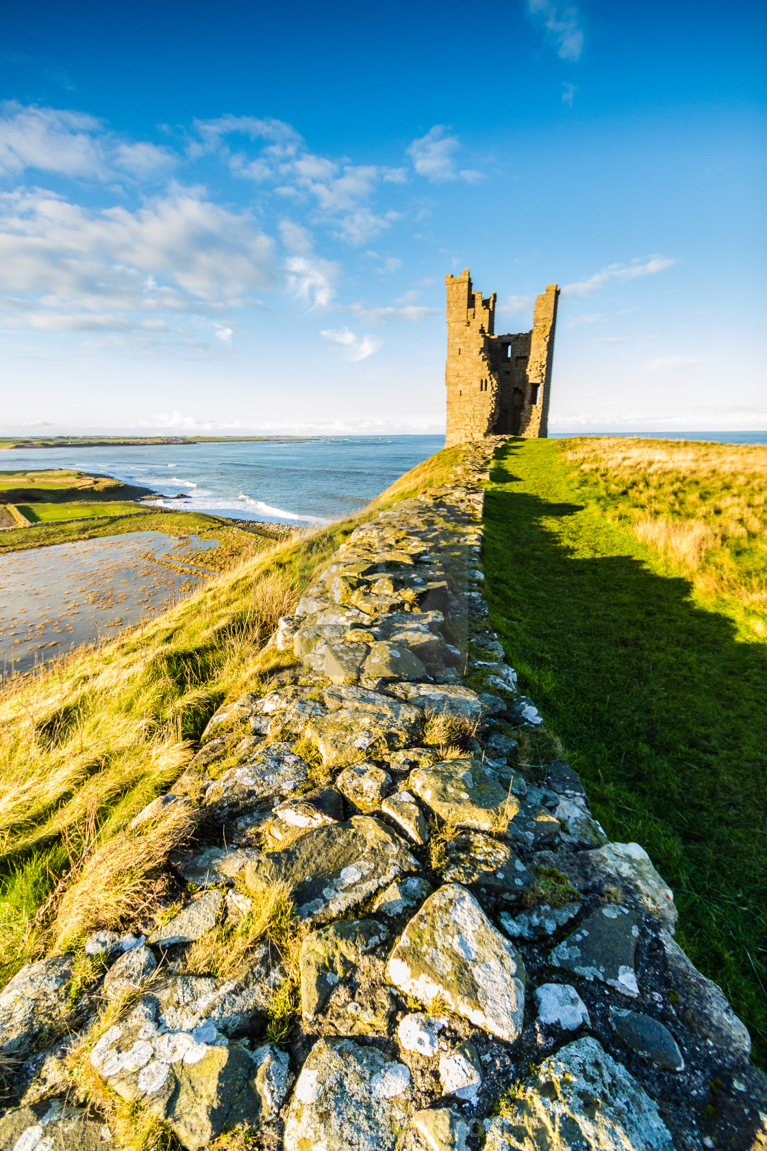 """Dunstanburgh Castle."" stock image"