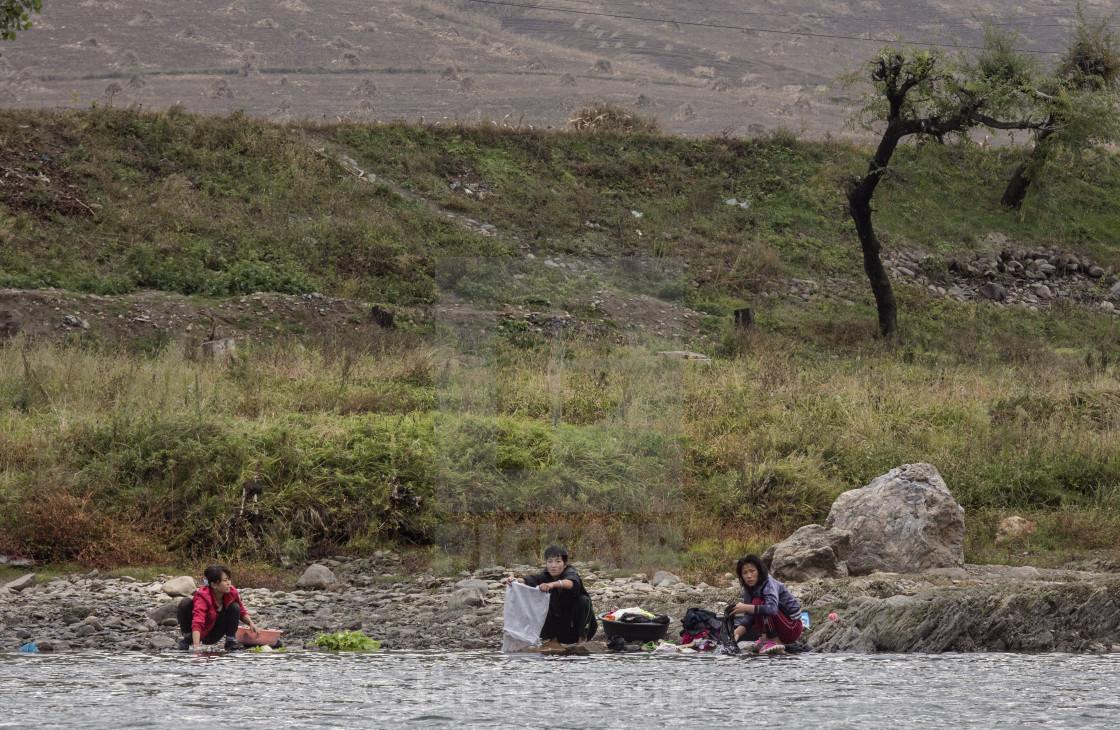 """Yalu River Wash"" stock image"