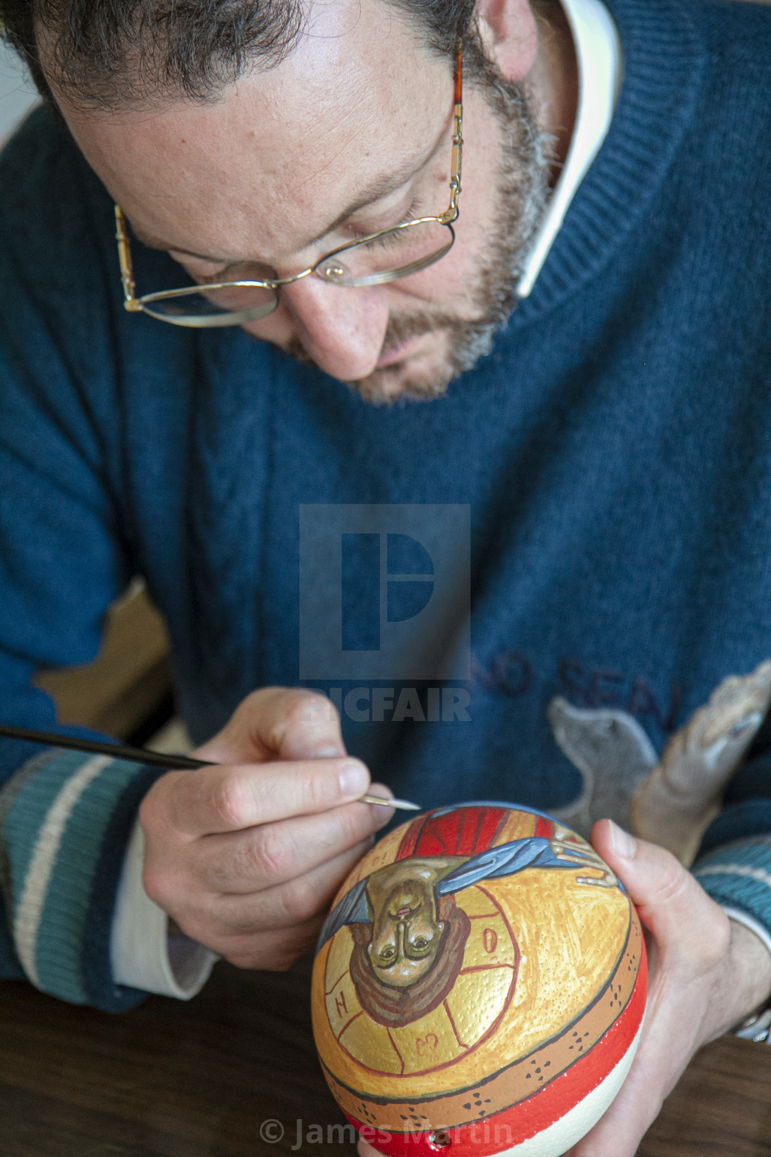"""""""Byzantine Iconography on an Ostrich Egg"""" stock image"""