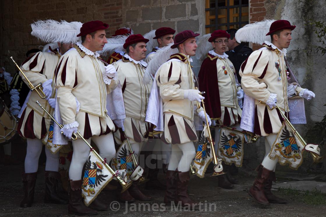 """""""Sardinian Brass band at Sartiglia"""" stock image"""
