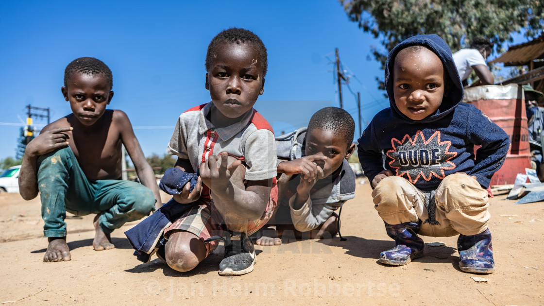 """Children of South Africa"" stock image"