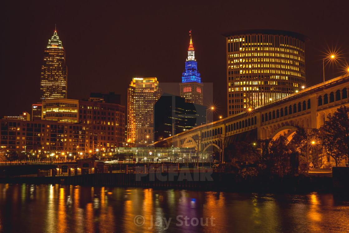 """""""Cleveland Skyline"""" stock image"""