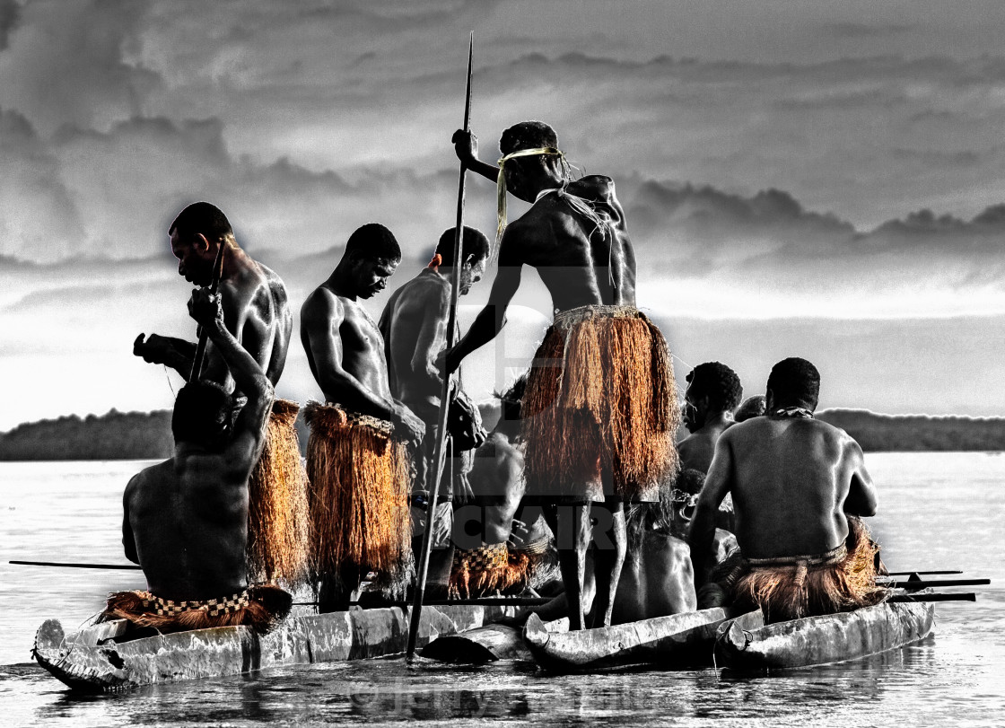 """""""Ghosts of the Asmat Polers"""" stock image"""