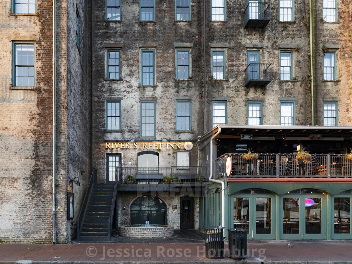 """""""River Street Inn (Horizontal)"""" stock image"""