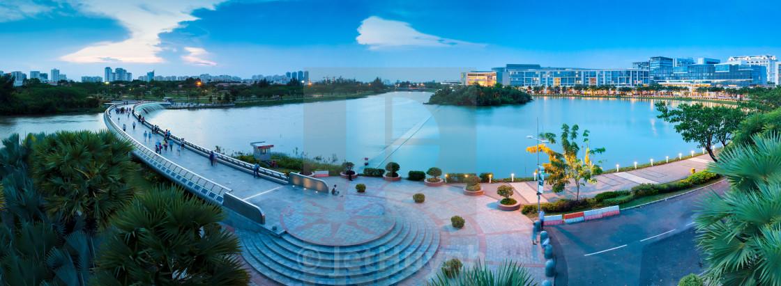 """""""Panorama of Saigon Skyline - Phu My Hung"""" stock image"""