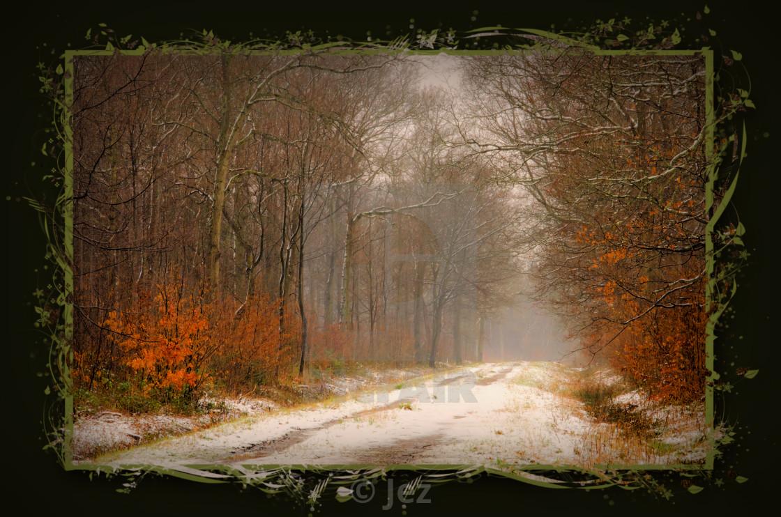 """Bordering on Winter"" stock image"