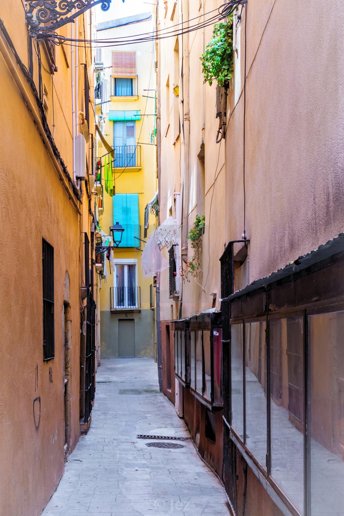 """Side street"" stock image"