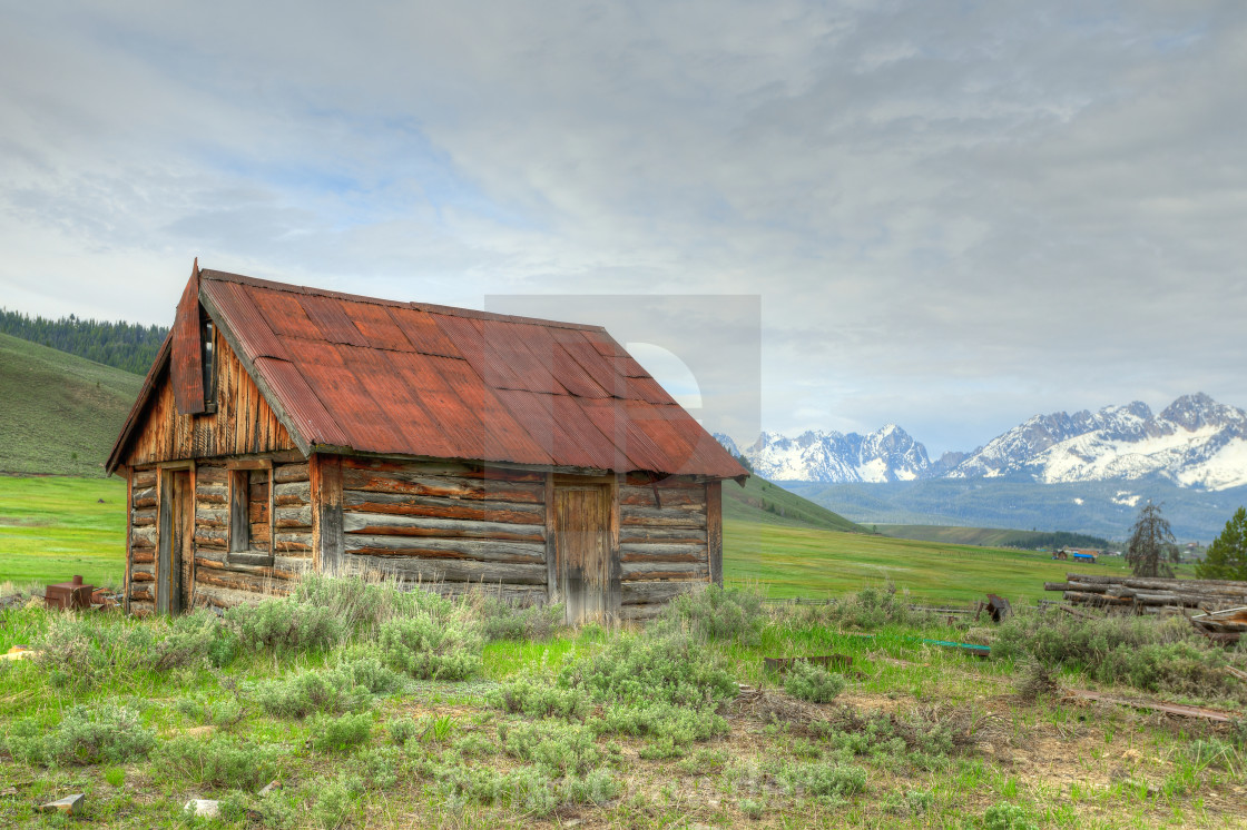 """Abandoned cabin in Idaho"" stock image"