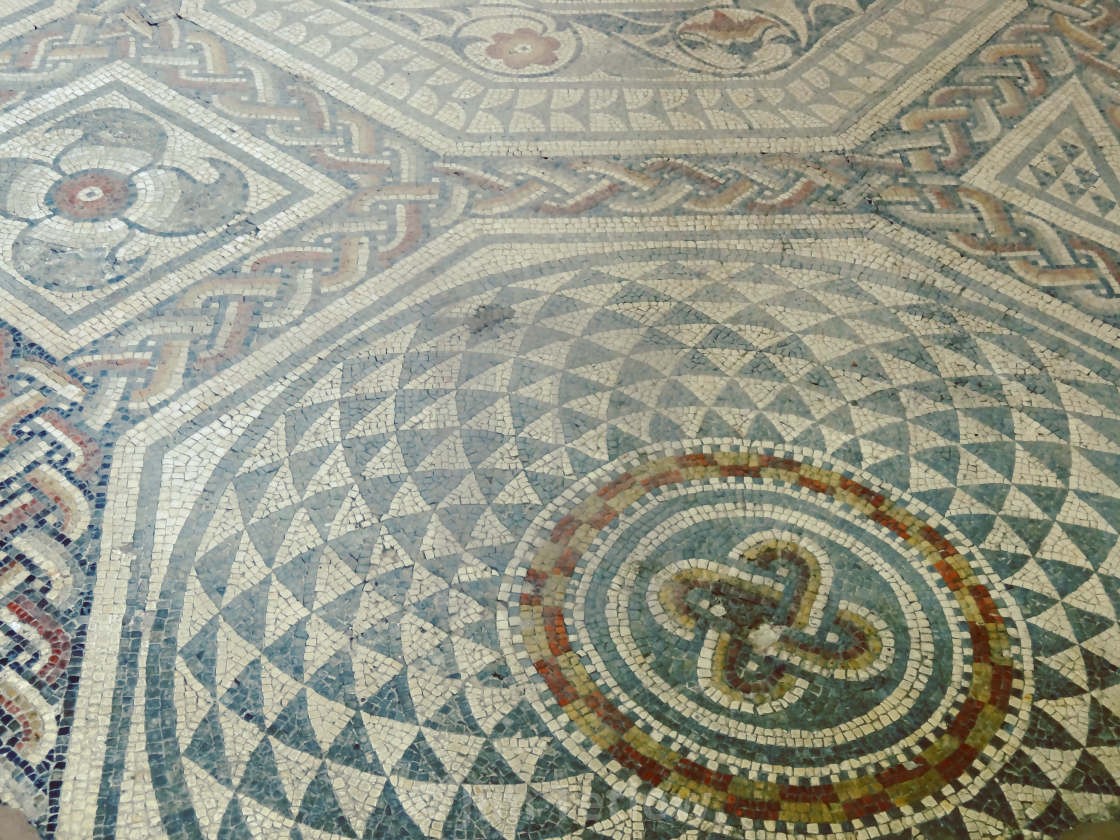 """Floor Mosaic, Jewry Wall Museum"" stock image"