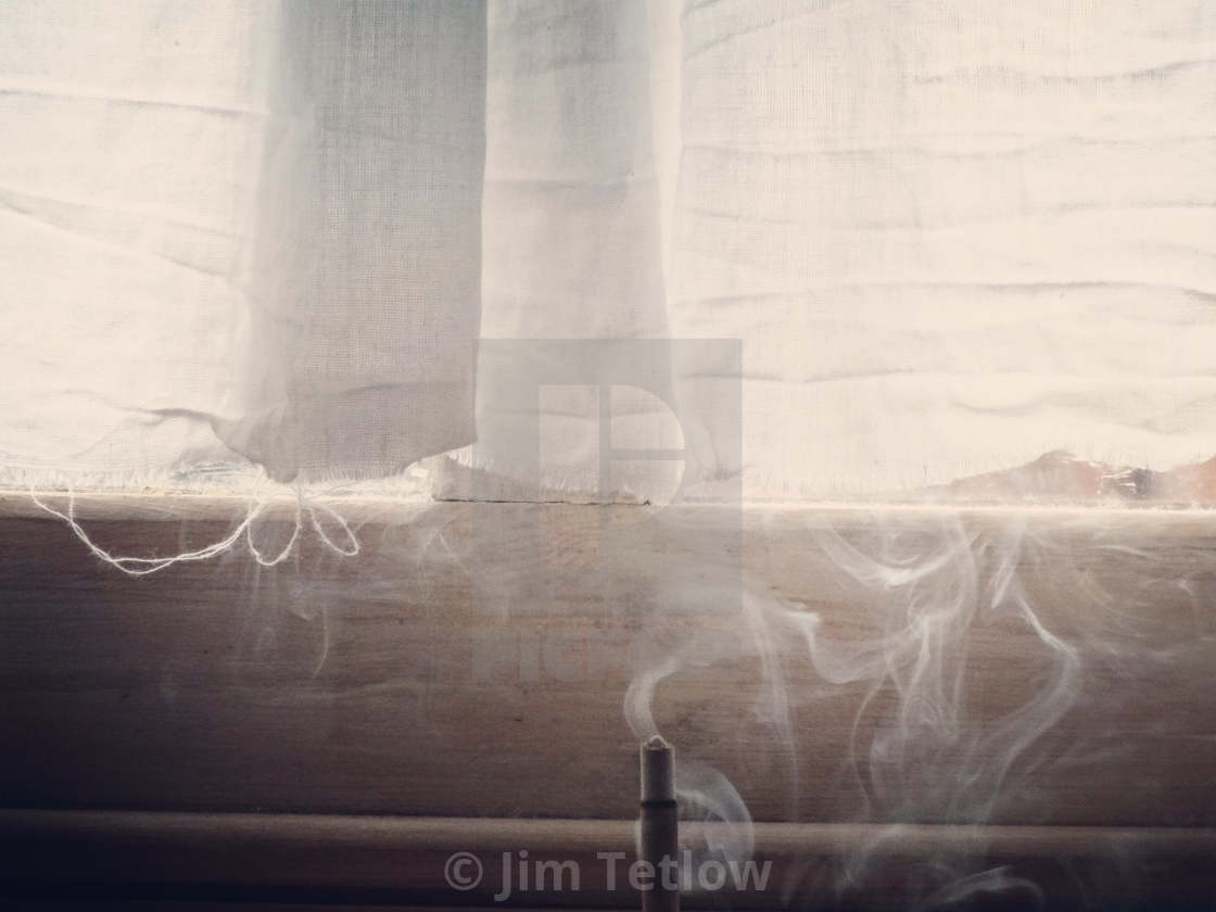 """""""Incense by Window"""" stock image"""