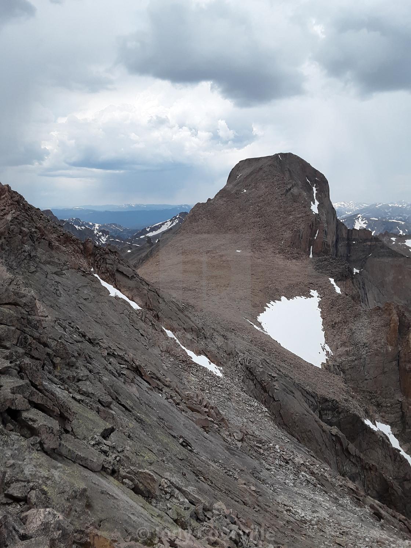 """Long's peak from Mt. Meeker"" stock image"