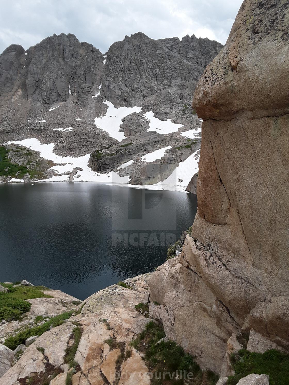 """Rocky Lake"" stock image"