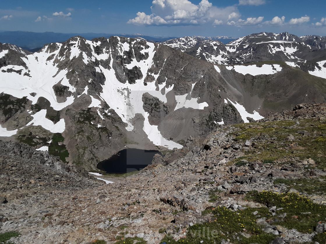 """""""Mount Elbert lake view"""" stock image"""