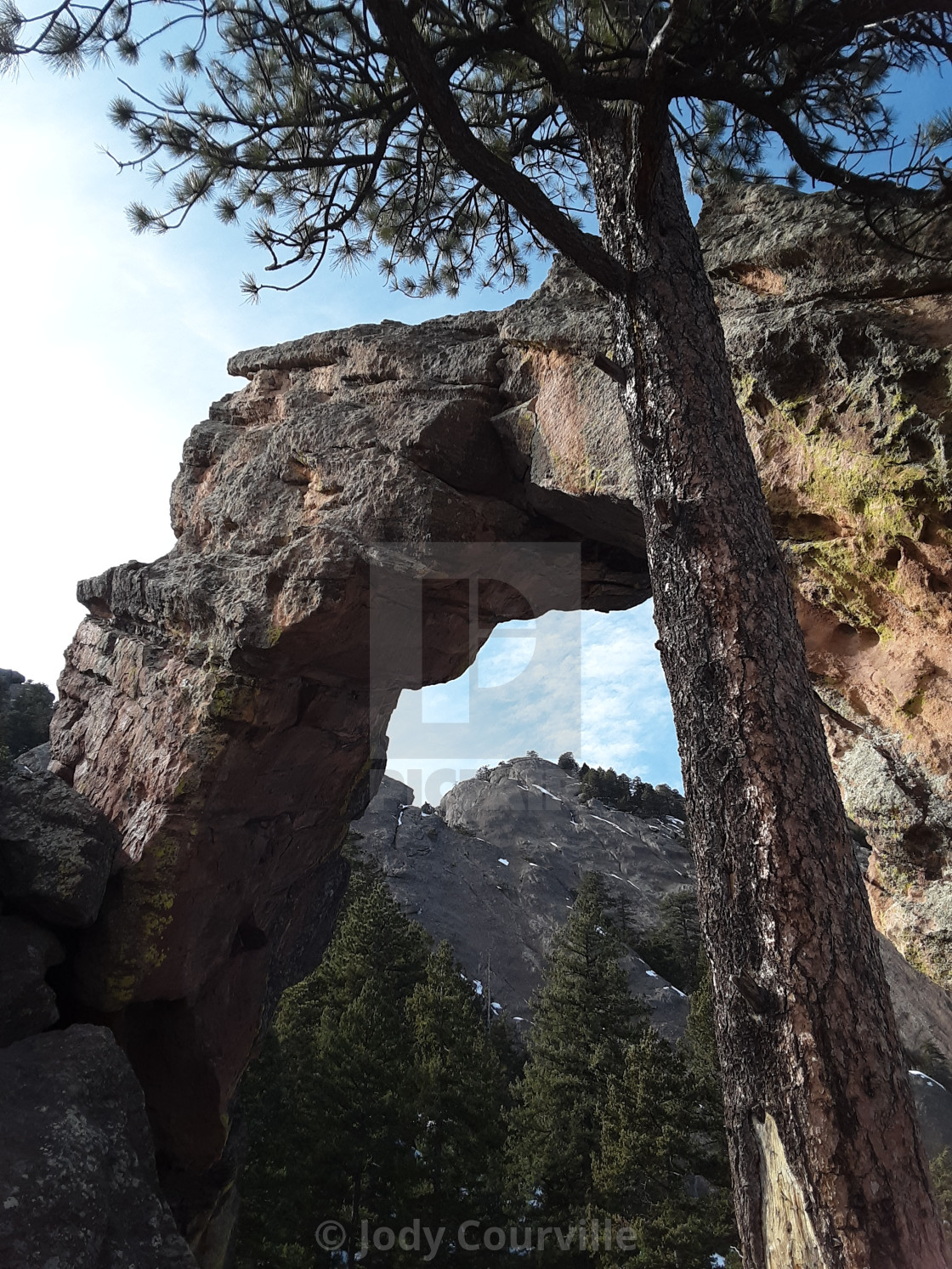 """""""Royal arches of Boulder"""" stock image"""