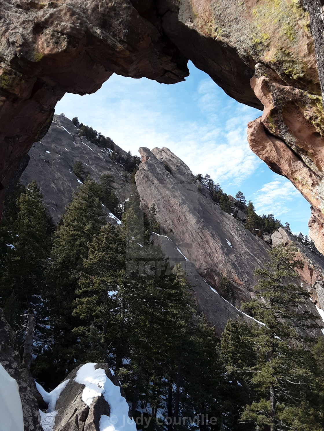 """""""Flatirons through the Royal arches"""" stock image"""