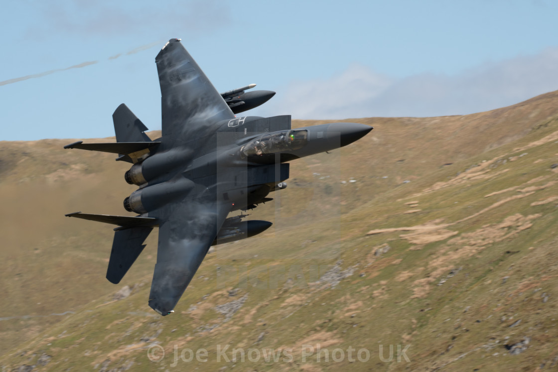 """F15 through the Mach Loop / LFA7 - Cad West / East approach."" stock image"