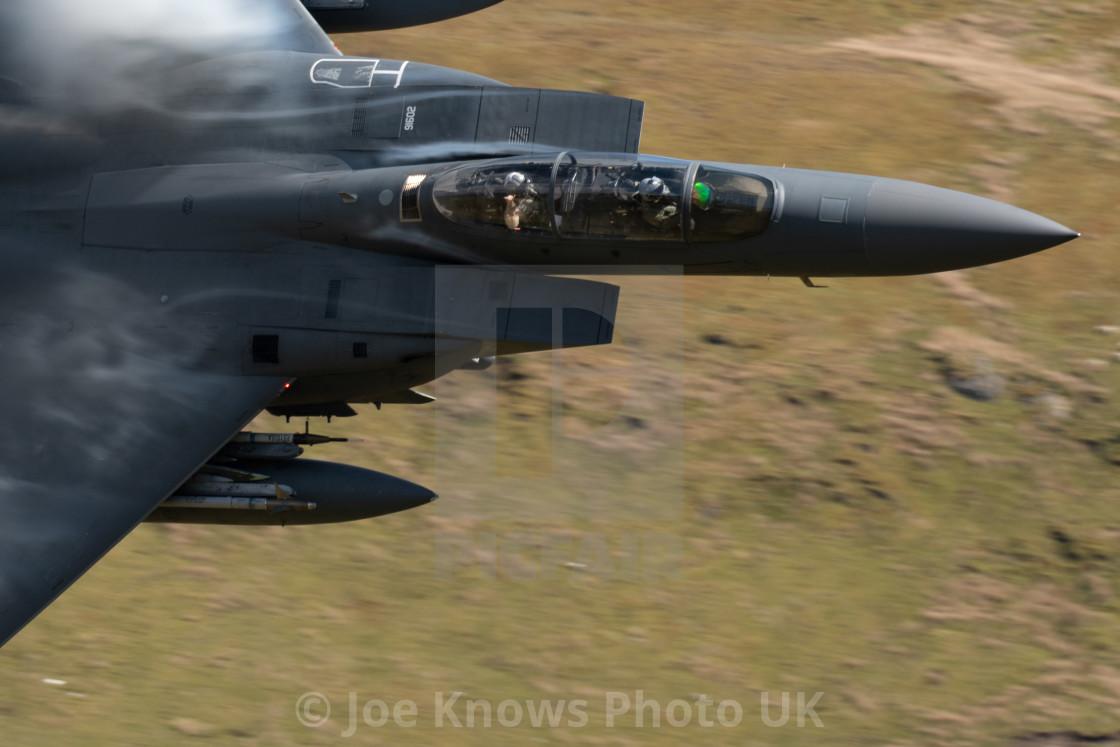 """Cockpit shot of F15 through Mach Loop / LFA7 - WO having fun"" stock image"
