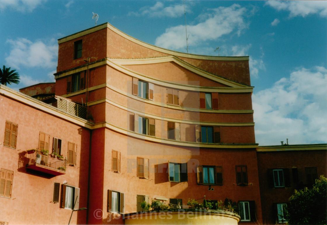 """Palazzo from the 1930s, Garbatella"" stock image"