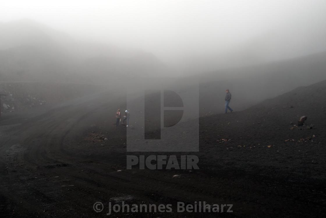 """""""Fog of Mount Etna"""" stock image"""