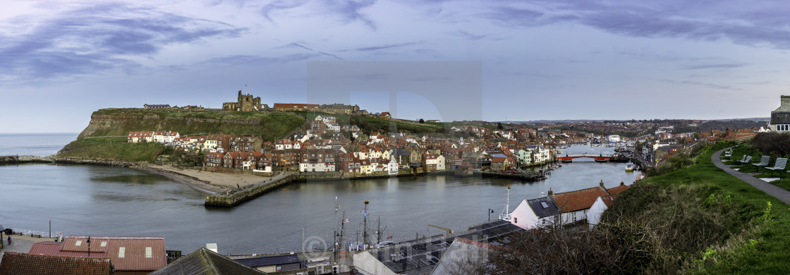 """The historic Town Of Whitby"" stock image"