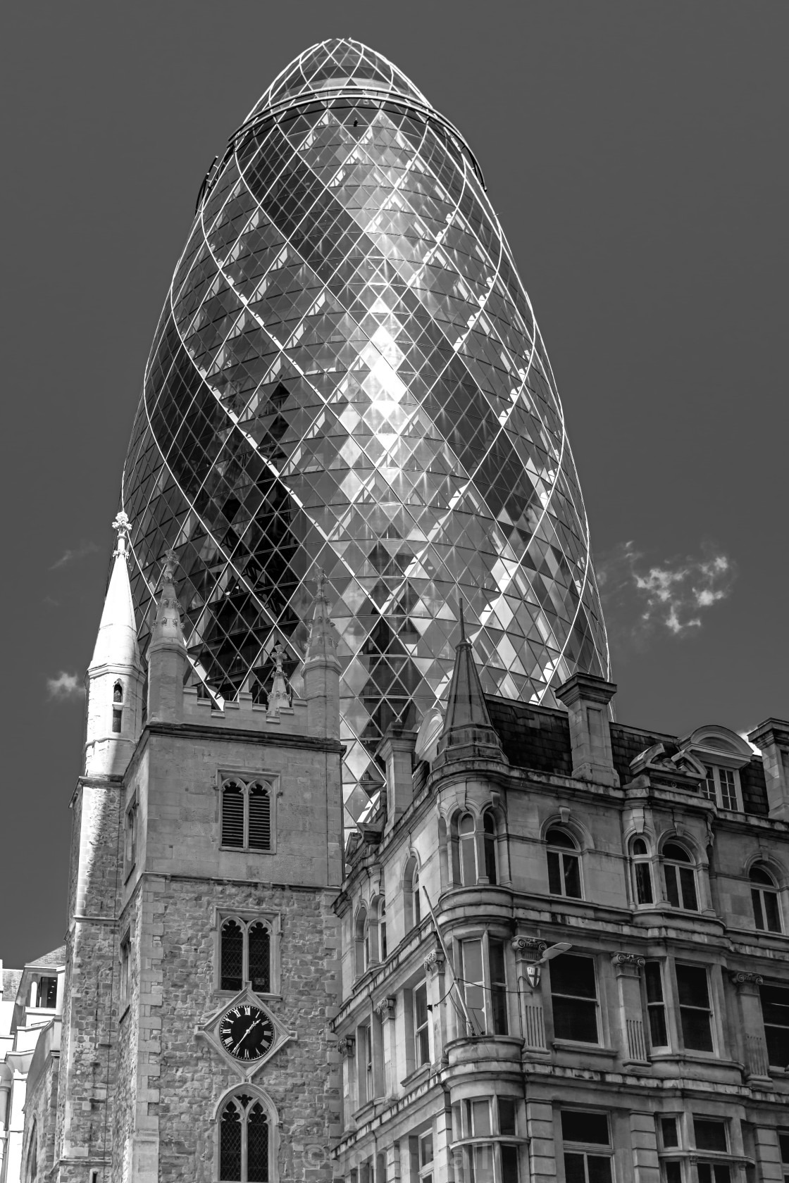 """The Gherkin, London"" stock image"