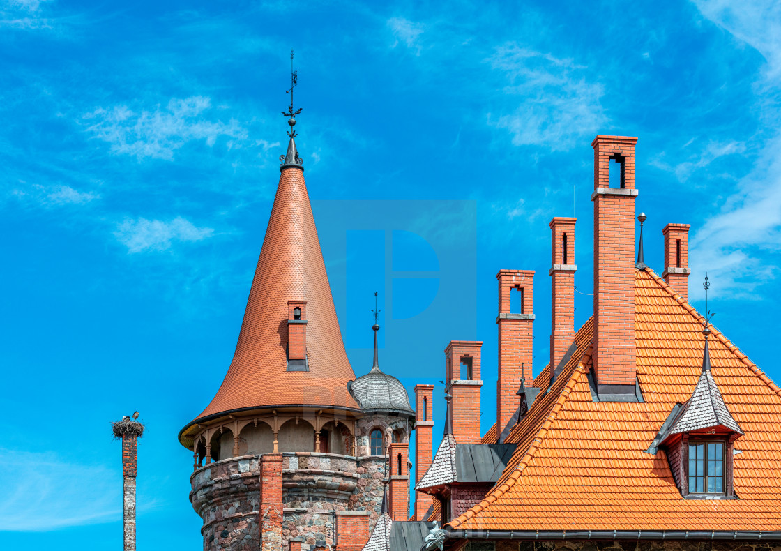 """Latvian Roof Tops"" stock image"