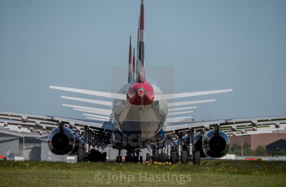 """Grounded Aircraft Glasgow Airport"" stock image"