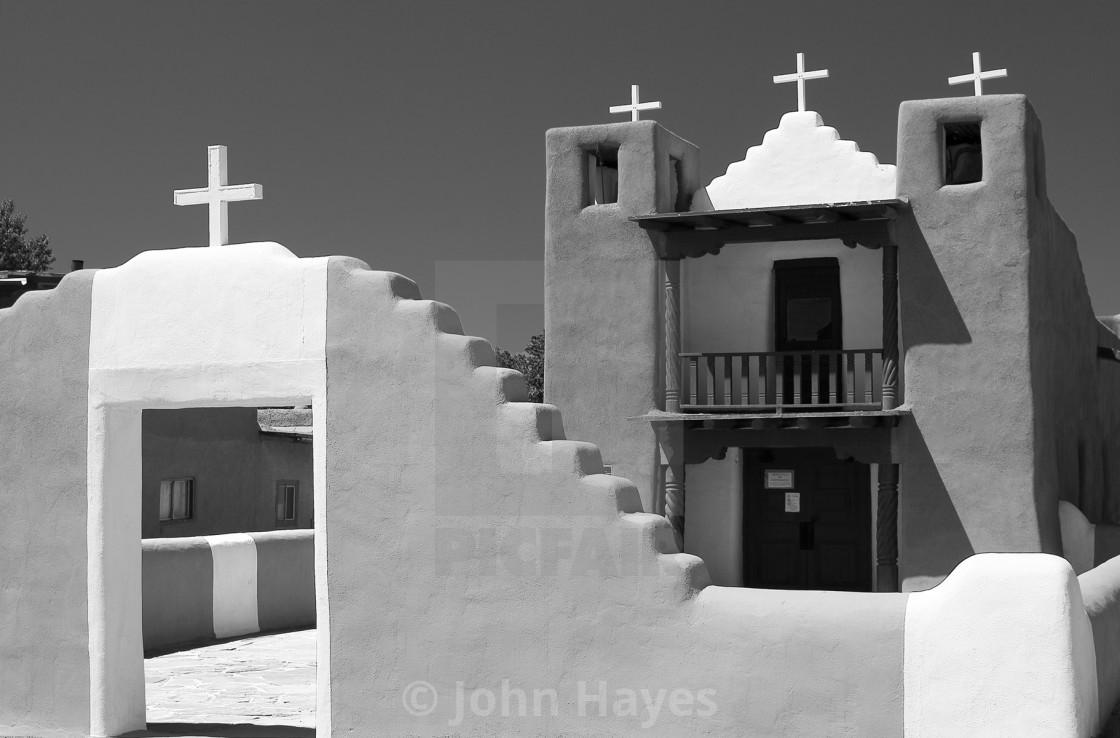 """Taos church"" stock image"