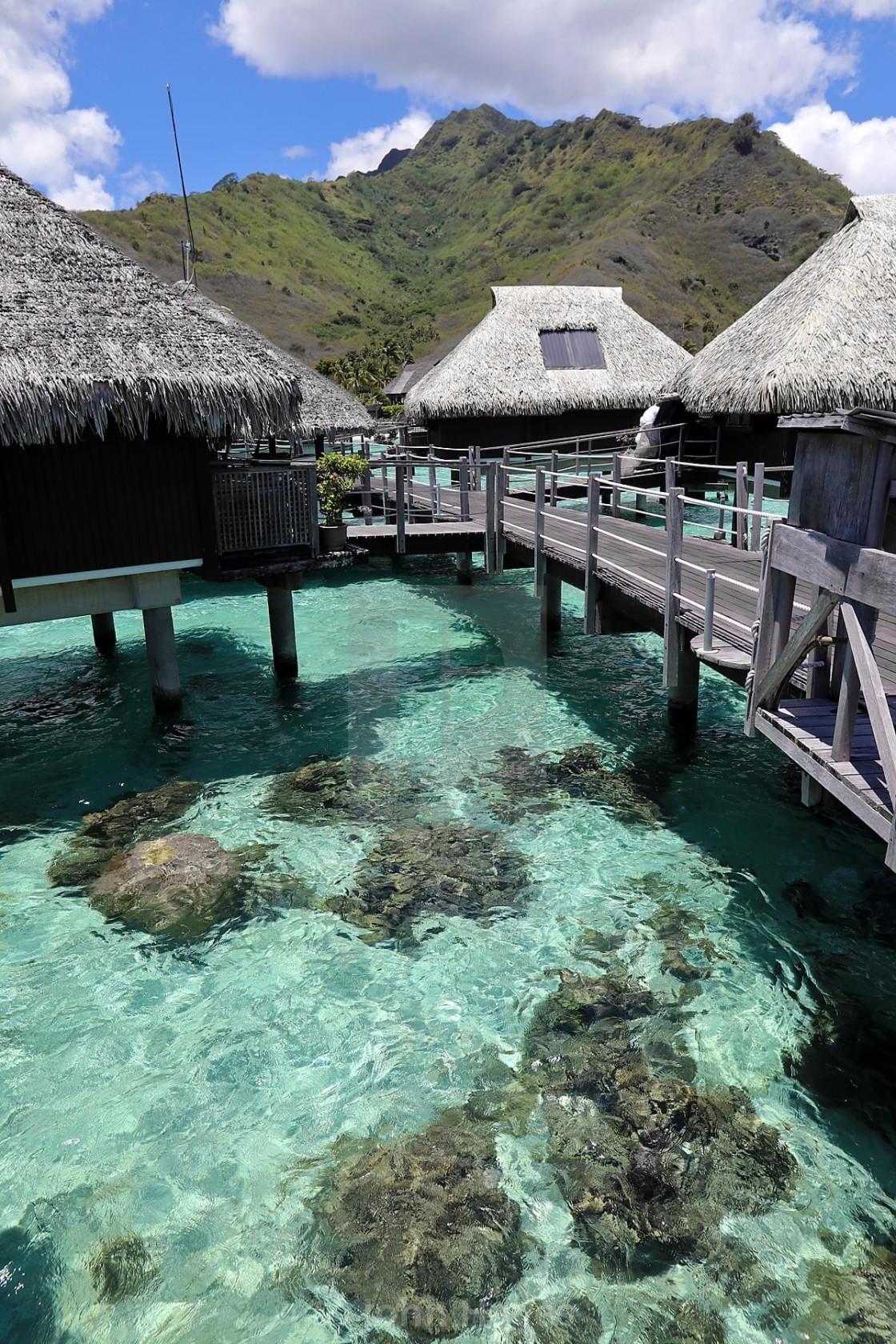 """Hilton Moorea, Tahiti"" stock image"