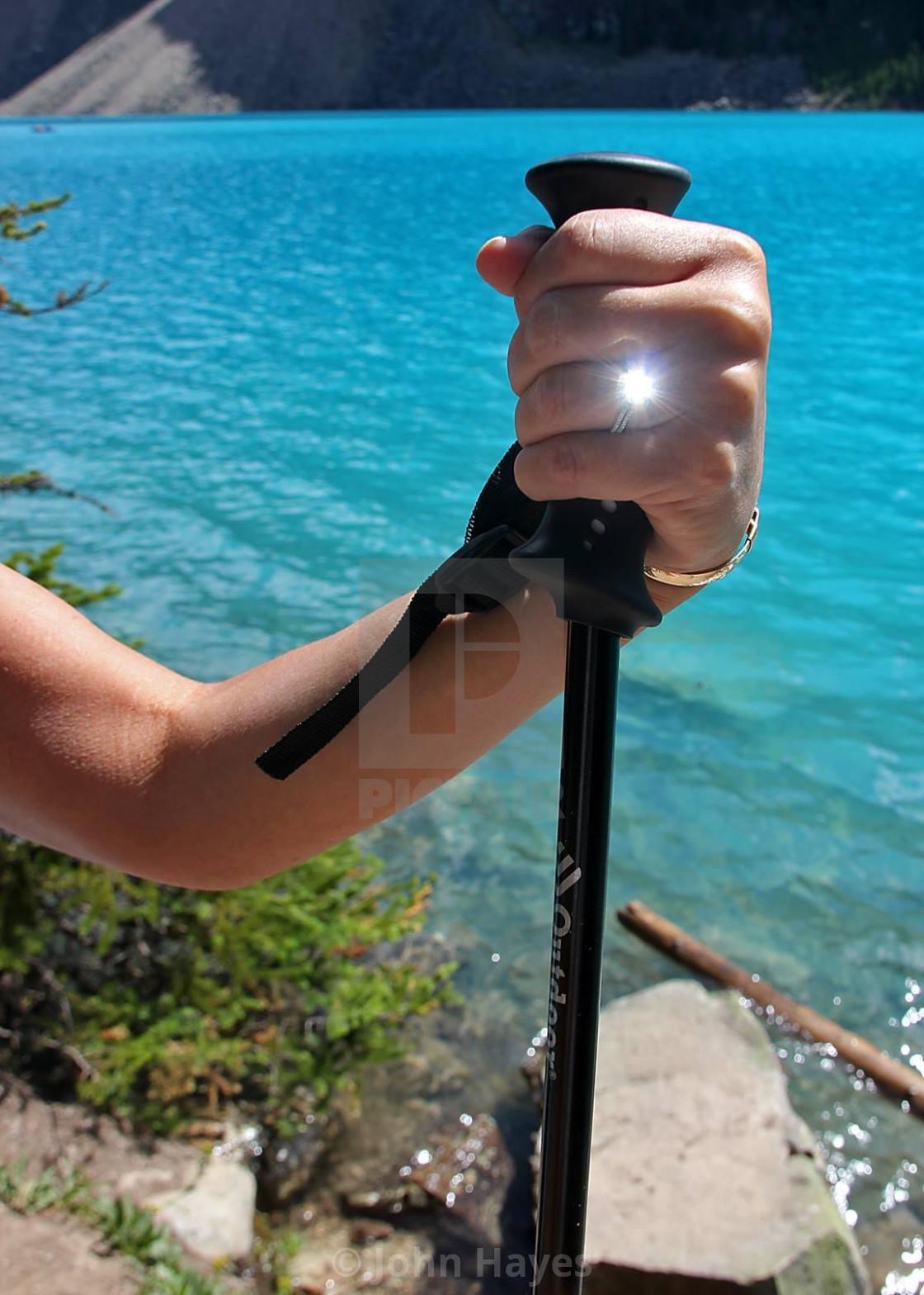 """Engagement ring, Patty, moraine Lake,"" stock image"