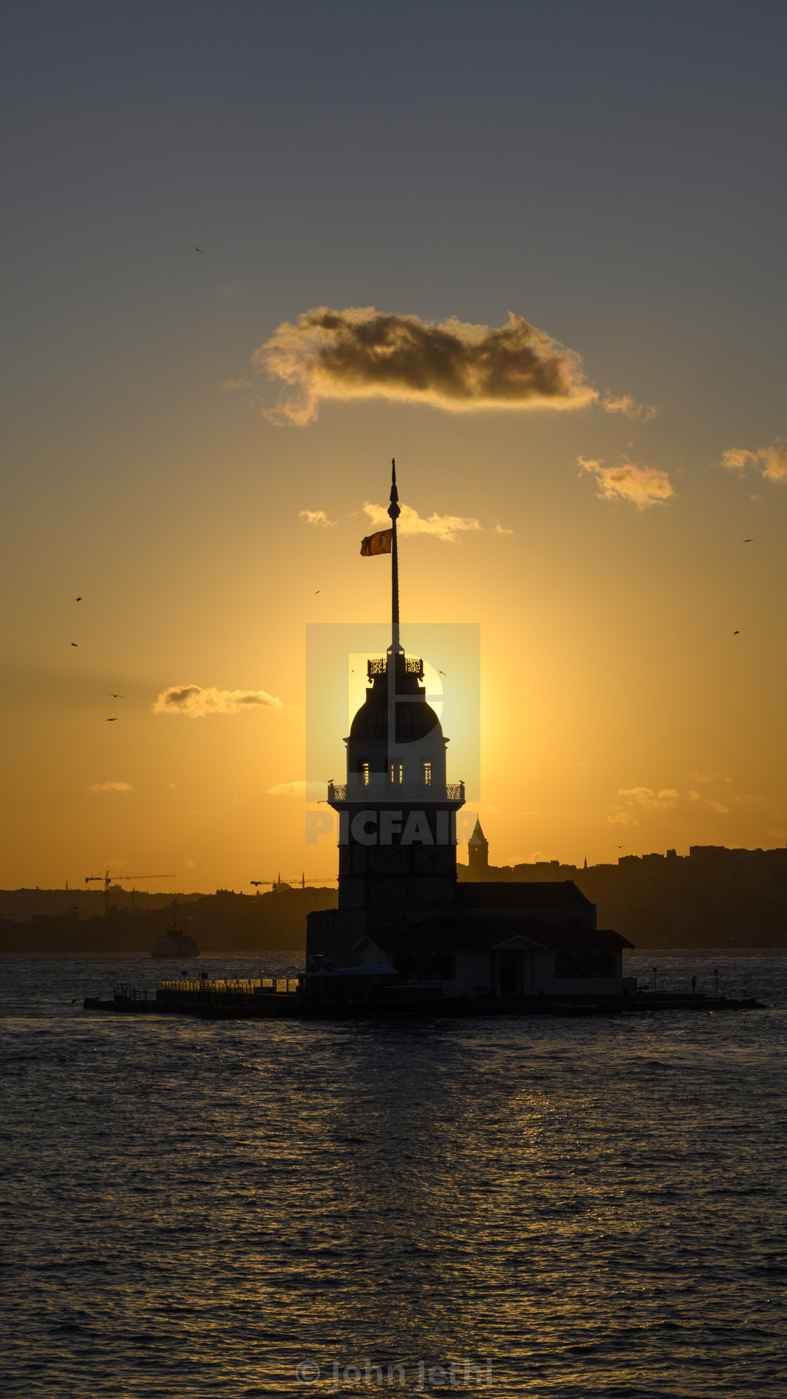"""""""Sunset in Istanbul"""" stock image"""