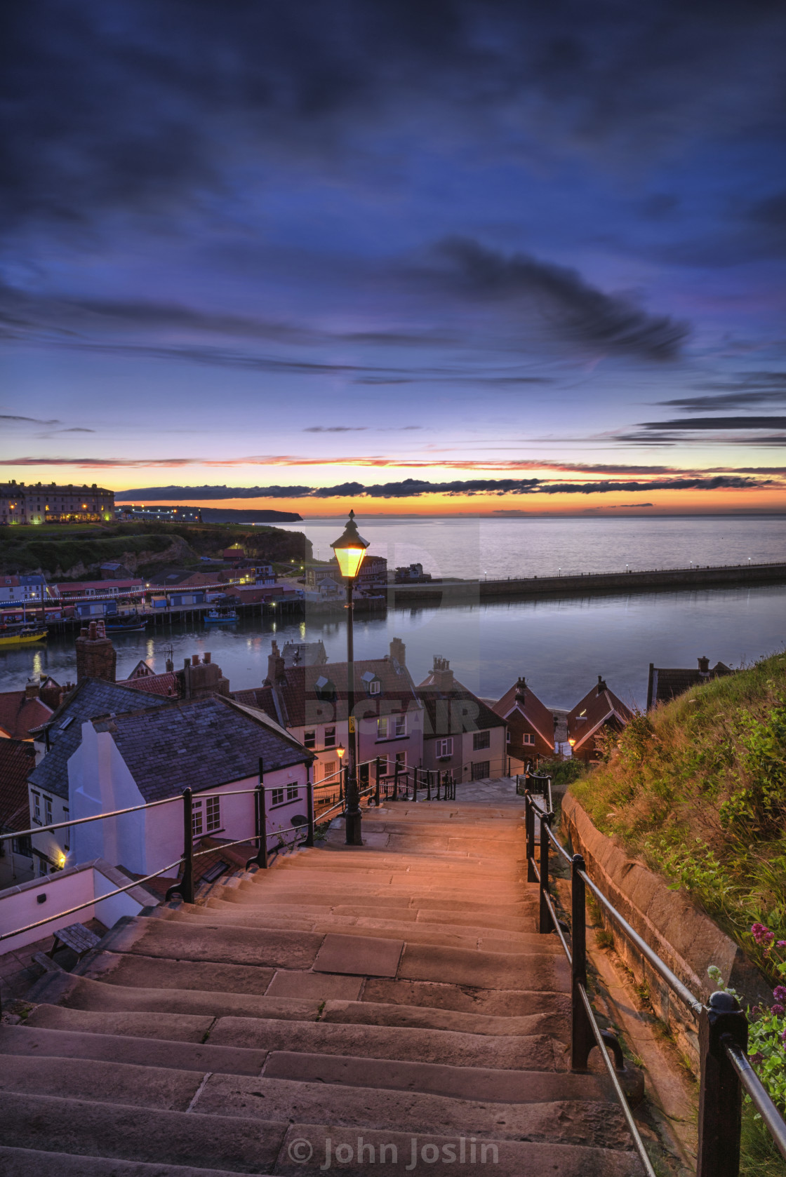 """Whitby 199 steps"" stock image"