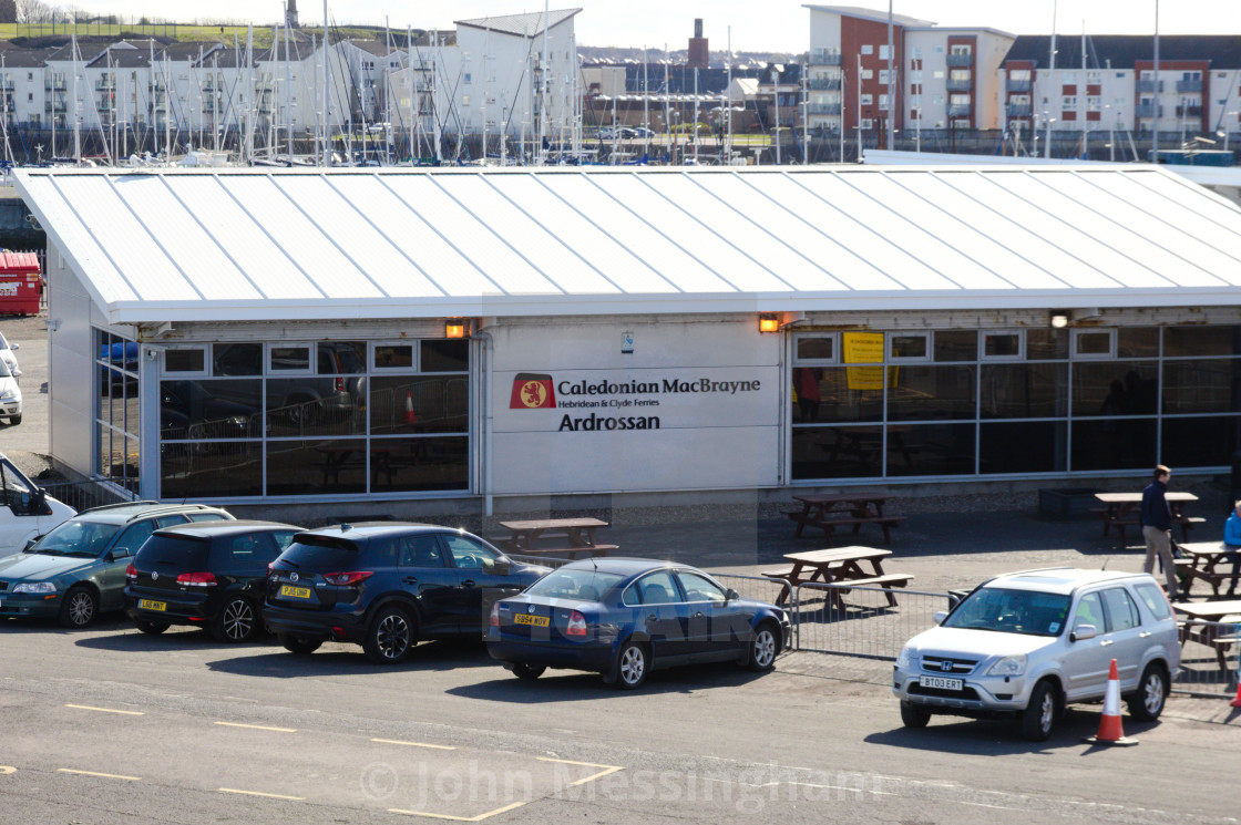 """""""Ardrossan Ferry Terminal Building"""" stock image"""