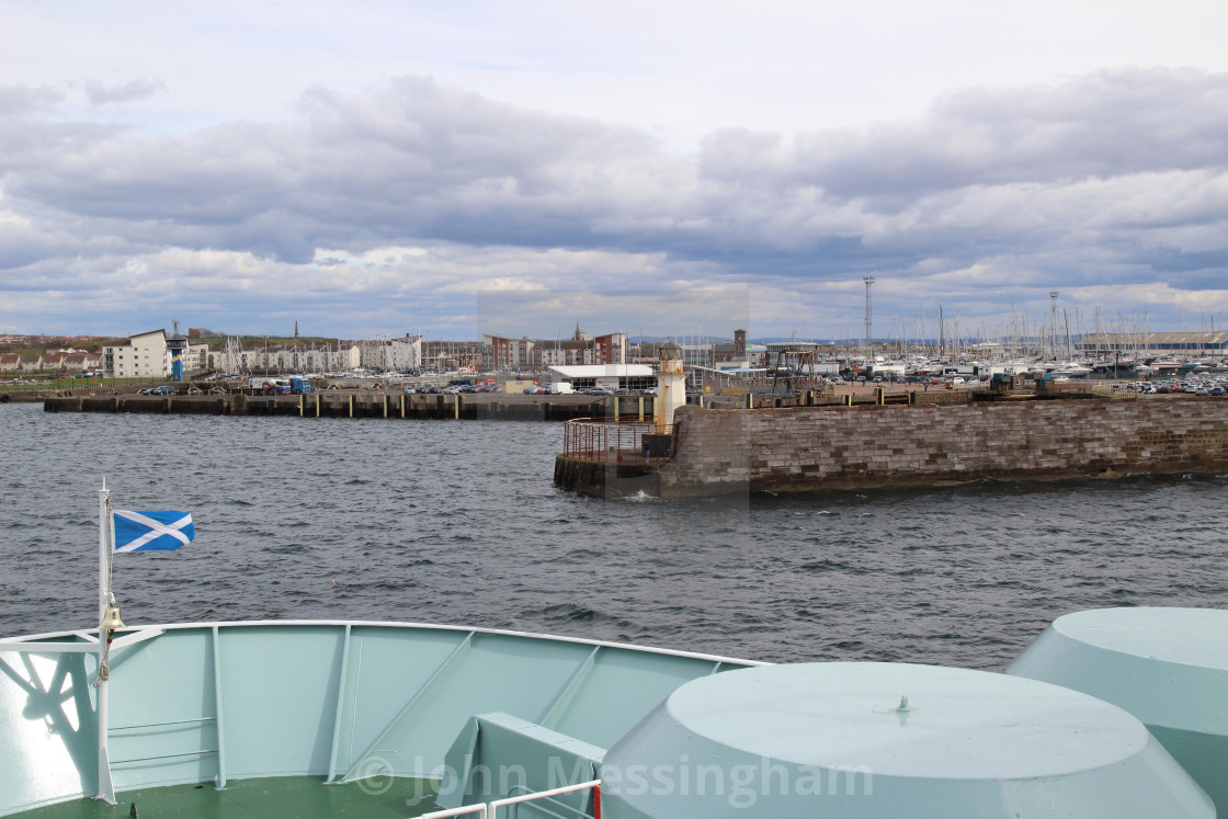 """""""Approaching Ardrossan on the Arran ferry"""" stock image"""