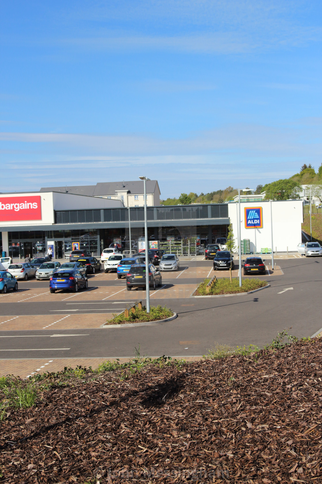 """Aldi store in Mavor Avenue, East Kilbride."" stock image"