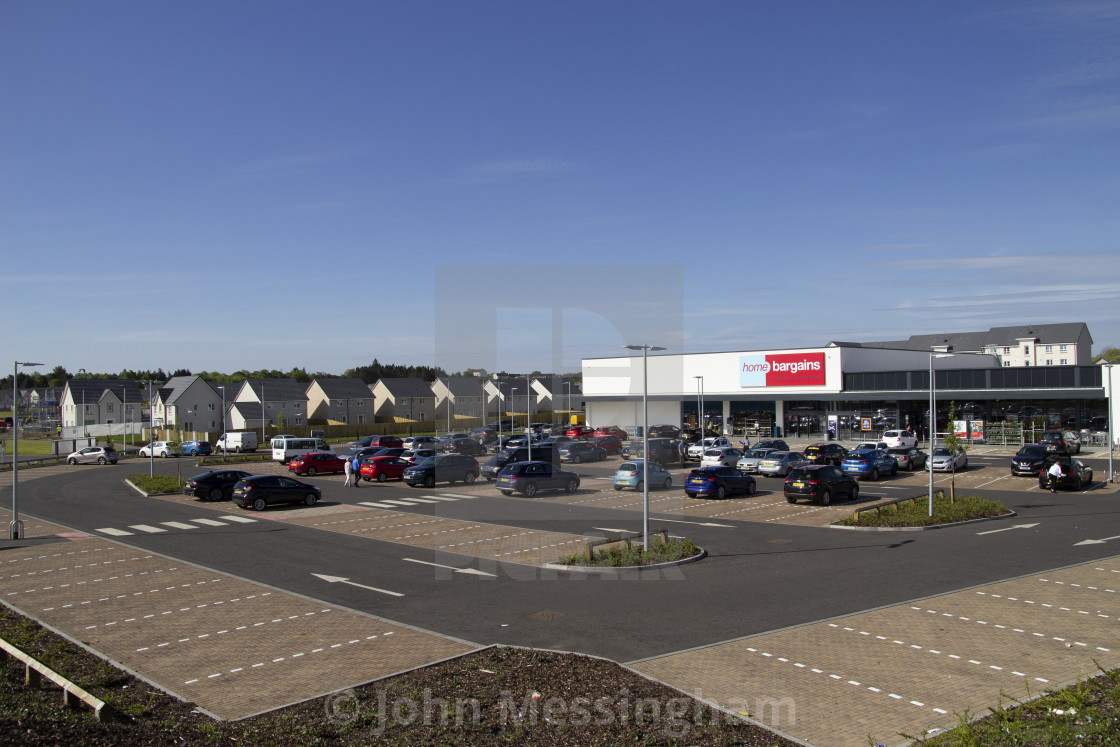 """""""Home Bargains store on the old Rolls-Royce site"""" stock image"""