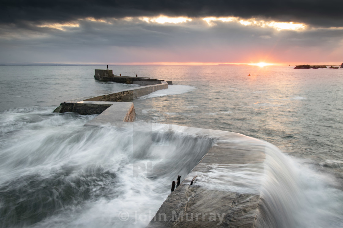 """The Blocks - St Monans"" stock image"