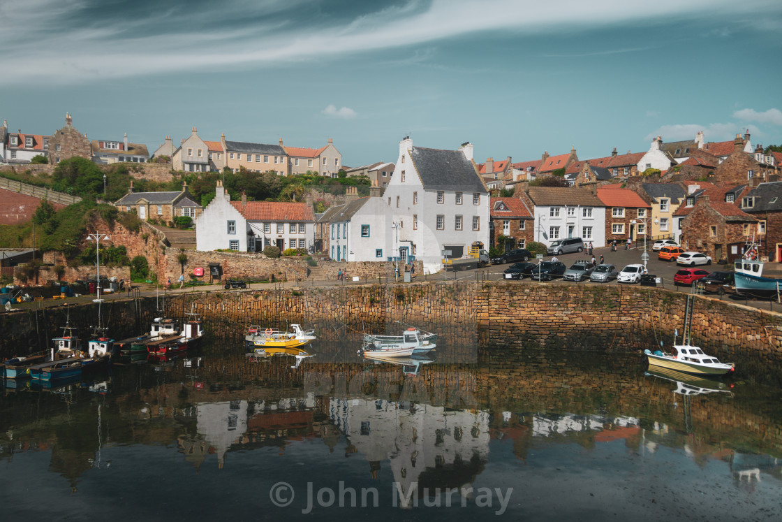 """Reflection Time in Crail"" stock image"