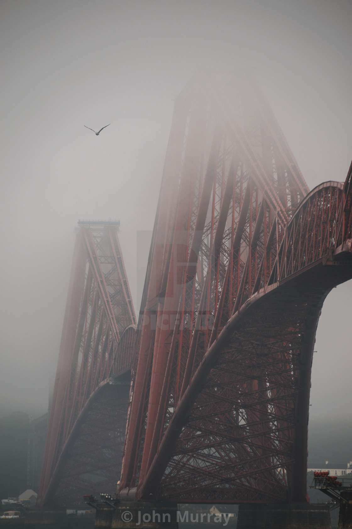 """Moody Forth Bridge"" stock image"