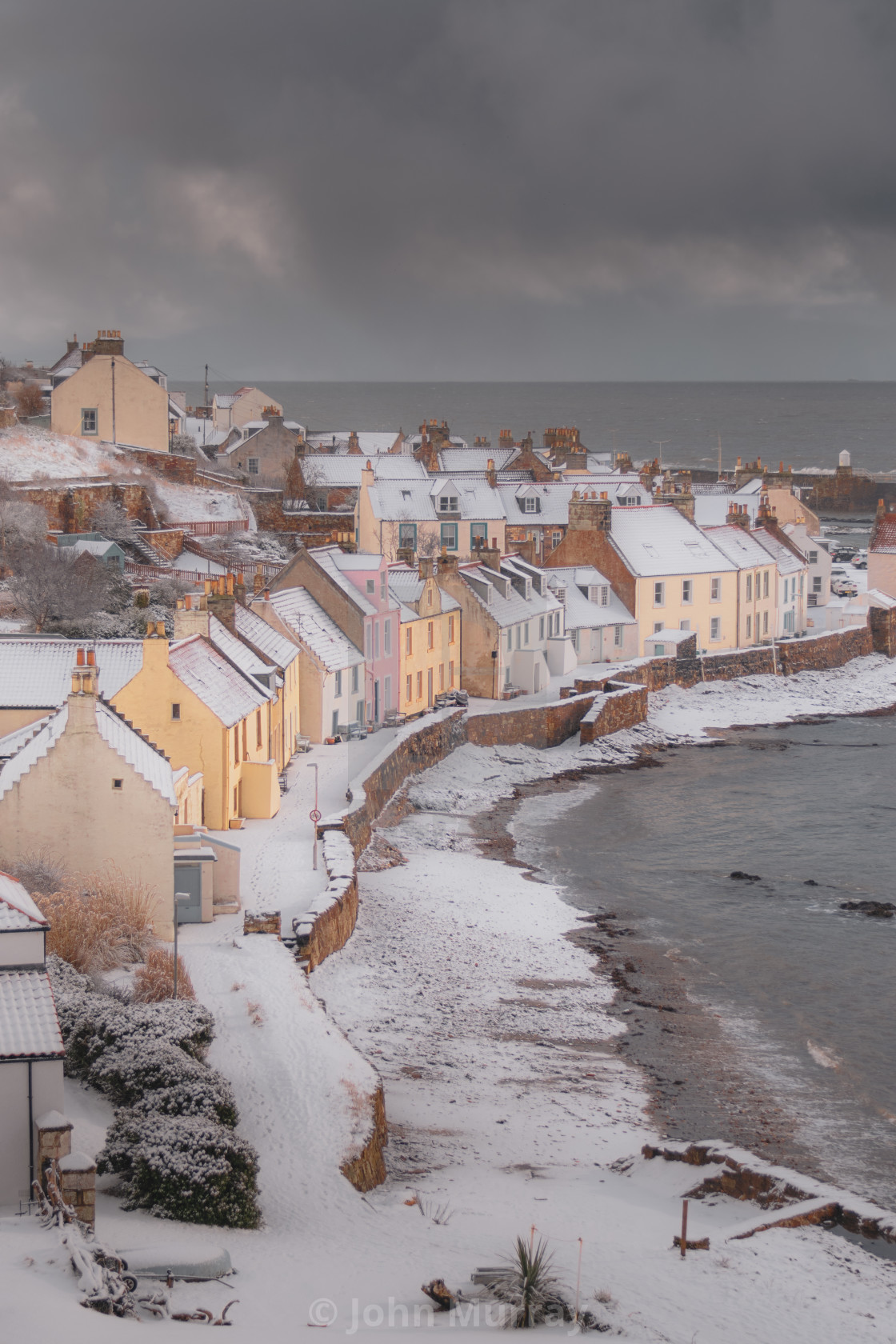 """Pittenweem in the Snow"" stock image"