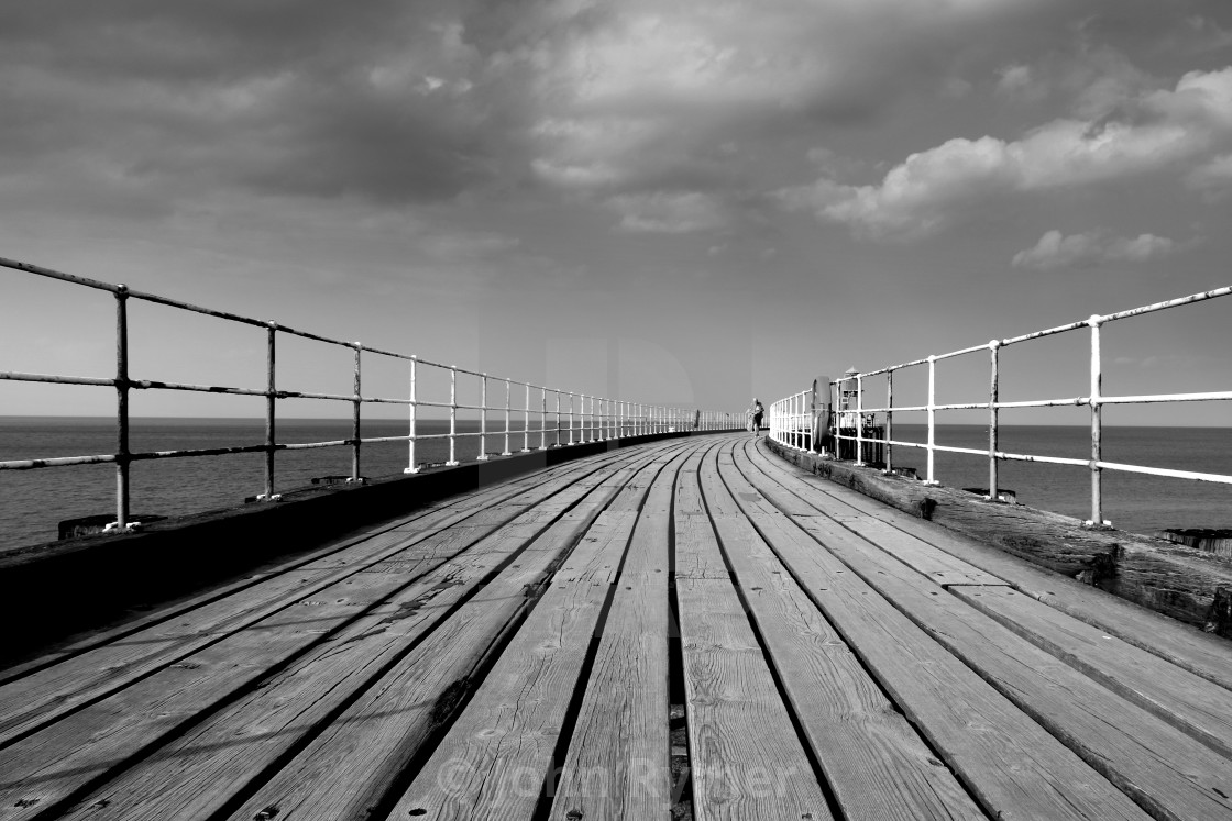"""""""Whitby Pier"""" stock image"""