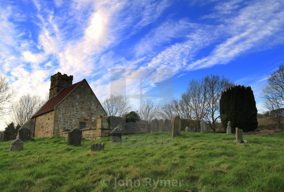 """St Andrew's Church, Upleatham."" stock image"